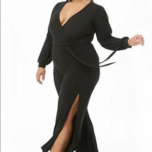 Plus size surprise Belted Jumpsuit